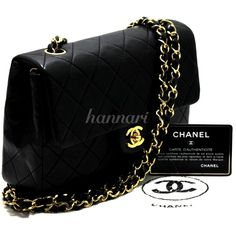 2261457868ee AUTHENTIC CHANEL MINI SMALL CHAIN SHOULDER BAG CROSSBODY LEATHER BLACK FLAP  620  CHANEL  MessengerCrossBodyShoulderBag