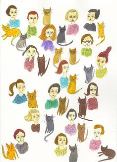 {Cat Ladies}  :)