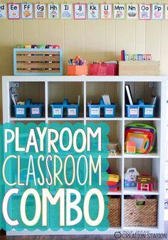 Adorable Playroom Homeschool Classroom Combo.