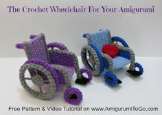Crochet Wheelchair Pattern Video Tutorial ~ Amigurumi To Go ~ free pattern