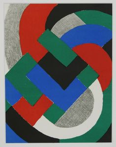 Sonia Delaunay: Litho in passe-partout, Simultanisme
