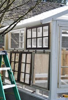 build a greenhouse from vintage windows, gardening, home improvement, outdoor living Source by destrywerner Diy Greenhouse Plans, Outdoor Greenhouse, Small Greenhouse, Greenhouse Gardening, Greenhouse Wedding, Old Window Greenhouse, Pallet Greenhouse, Gardening Tips, Vintage Windows