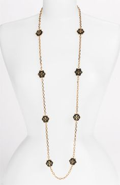 Tory Burch 'Walter' Long Station Necklace | Nordstrom