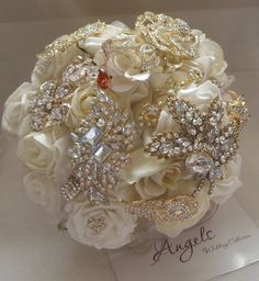 Asian Princess Silver and Gold Brooch Bouquet. £150.00, via Etsy.