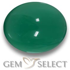 GemSelect features this natural Agate from India. This Green Agate weighs 2.3ct and measures 9.4 x 7.4mm in size. More Oval Cabochon Agate is available on gemselect.com #birthstones #healing #jewelrystone #loosegemstones #buygems #gemstonelover #naturalgemstone #coloredgemstones #gemstones #gem #gems #gemselect #sale #shopping #gemshopping #naturalagate #agate #greenagate #ovalgem #ovalgems #greengem #green Green Gemstones, Loose Gemstones, Natural Gemstones, Buy Gems, Gem Shop, Green Agate, Gemstone Colors, Shades Of Green, Stone Jewelry