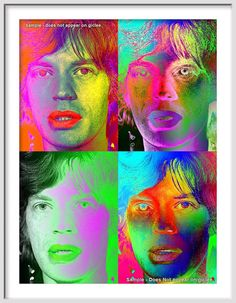 MICK JAGGER Number 2 of The Rolling Stones  Large 20 by Murray Eisner, $28.00