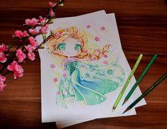 Disney Chibi Reine Elsa Par Lighane - Chibi Anime, Disney & Art Still Life par Lighane | Art et désign