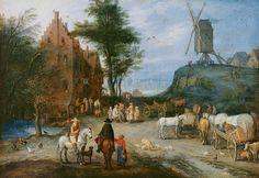 La strada del villaggio, Jan Brueghel il Vecchio, 1603