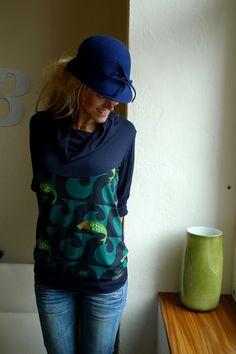 SCHALKRAGENOBERTEIL 'AM MEER' - OBERTEILE LANGARM von Bonnie-and-Buttermilk - Longsleeves - T-Shirts & Sweatshirts - DaWanda