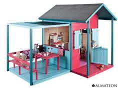 Maison enfant bois louveteau for Cabane minnie