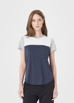 Colorblock Shirttail Tee | Vince