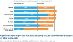 SUSTAINABILITY: An opinion survey: How important are sustainability issues to businesses future environment? North Africa, Latin America, Sustainability, Perspective, Asia, Environment, Europe, Success, Future