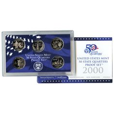 2000-S State Quarters 5-Coin Proof Set