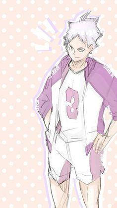 Read from the story ☾ Haikyuu + Wallpapers. Sugawara Koushi, Kenma, Haikyuu Fanart, Haikyuu Anime, Semi Eita, Haikyuu Wallpaper, Background Pictures, Pink Wallpaper, Wattpad