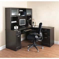 Bon Realspace Magellan L Shaped Desk 30 H X 58 34 W X 18 34 D Espresso By Office  Depot U0026 OfficeMax