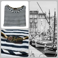 The Seafarer striped t-shirt #theseafarer #seafarer #striped #jeans #black #white #spring #summer #collection