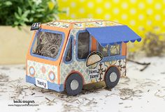 Paper Taco Truck Gift Box - Cinco de Mayo from Happy Card Factory