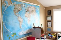 Oversize Wall Map. From the Living With Kids Home Tour featuring Anne McGraw
