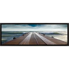 3 Panel Photo Landscape Panorama Into the Waves Framed Photographic Print