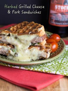 These grilled cheese sandwiches with rosemary pork are a sandwich lover's dream come true! (Sponsored by Smithfield)