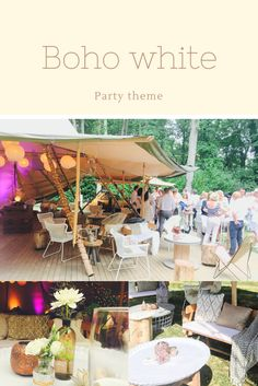 Bohemian white for a backyard Summer party