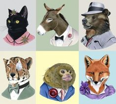 animals in fancy suits