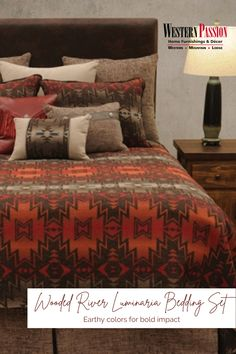 Western Bedding, Wood River, Western Decor, Rustic Elegance, Bedding Collections, Earth Tones, Home Furnishings, Westerns, Classic