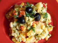 """AMIDON: salata de boeuf """"falsa""""- fara maioneza - dieta Rina 90 Veg Recipes, Potato Recipes, Cooking Recipes, Healthy Recipes, Cooking Food, Raw Vegan, Vegan Vegetarian, Vegetarian Recipes, Rina Diet"""