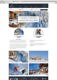 Ski Chalet Website Template