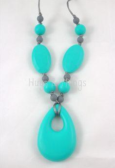 Borstvoedingsketting / Nursing Necklace: Lovely Turquoise