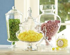 William-Sonoma Monogrammed Spire Apothecary Jars. Love these $49.95
