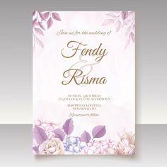 Premium Vector | Elegant wedding invitation floral design Wedding Invitation Card Template, Elegant Wedding Invitations, Floral Design, Templates, Stencils, Floral Patterns, Vorlage, Models