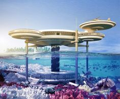 Above and underwater hotel in Dubai