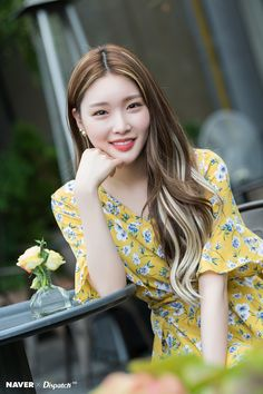 Photo album containing 23 pictures of Chungha Lee Sung Kyung Hair, Kpop Girl Groups, Kpop Girls, Pretty Hairstyles, Girl Hairstyles, Kim Chanmi, Kim Chungha, Oriental Fashion, About Hair