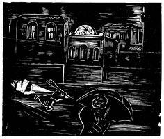 Oswaldo Goeldi (1895–1961) –  A loucura varre as ruas, Xilographie