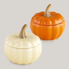 Add festive warmth to your table by cooking and serving individual portions of your favorite recipes in #WorldMarket's beautiful Pumpkin Bakers.