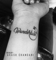 Wanderlust ! Tattoo Designed by @the_inkmann                                                                                                                                                                                 Más
