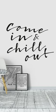 Chill out Wallpaper Christian Posters, Christian Art, Black And White Wall Art, Black White, Typography Wallpaper, Wand Tattoo, Typo Design, Order Prints, Wall Murals