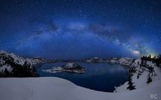 Crater Lake under the Stars by Ben Canales, I may not ever get to see this, but WOW.  I'd love to.