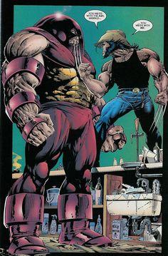Wolverine vs Juggernaut x Adam Kubert