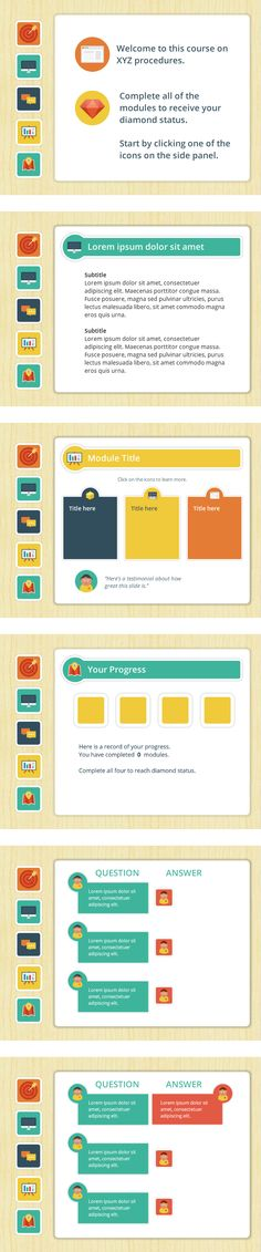 Storyline 2 Icon-Based Elearning Template