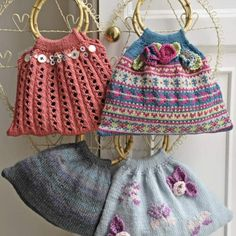 Knitted bags (knitting pattern).