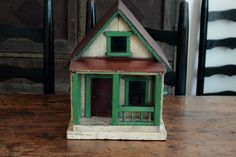 AAFA PRIMITIVE ANTIQUE FOLK ART HAND MADE ARCHITECTURAL MODEL WOOD DOLL HOUSE