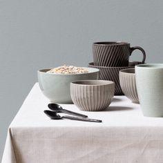 Set a beautiful table with refined ceramics. Mug, price DKK 12,90 / EUR 1,84 / ISK 324 / NOK 18,60 / GBP 1,77 / SEK 17,90