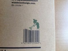 Koe grasmaait streepjescode wishbone #speelgoed
