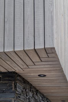 Siberian Larch (SILA) is a popular timber cladding choice for its aesthetic beauty, excellent durability, high density & impressive lifespan. Wooden Cladding Exterior, Larch Cladding, House Cladding, Ceiling Cladding, Cladding Design, Facade Design, House Extension Design, House Design, Sustainable Architecture