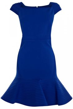 Cobalt blue wedding guest dress