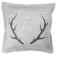 Bouclair Red Scandi Deer Horn Cushion