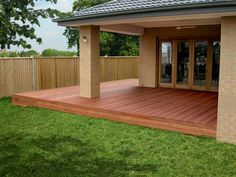 Decks patios pergolas verandahs balcony on for Building a low profile deck