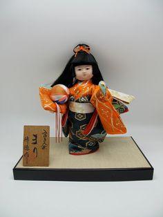 Japanese vintage dollSAGA-NINGYO Cute Girl with by vintagezipangu